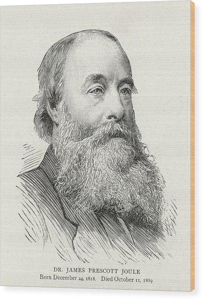 James Prescott Joule (1818-1889) Wood Print by  Illustrated London News Ltd/Mar