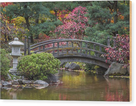 Japanese Bridge Wood Print