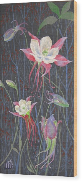 Japanese Flowers Wood Print