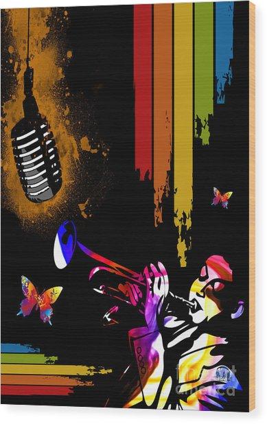 Jazz Wood Print by Mundo Arte