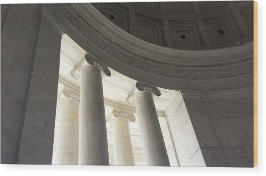 Jefferson Memorial Architecture Wood Print