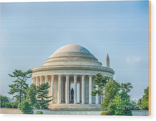 Jefferson Memorial Wood Print
