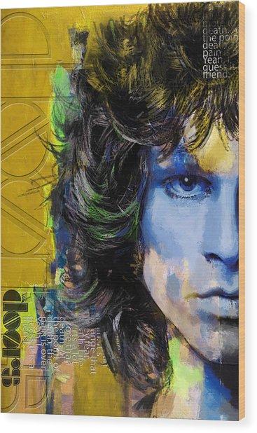 Jim Morrison Wood Print by Corporate Art Task Force