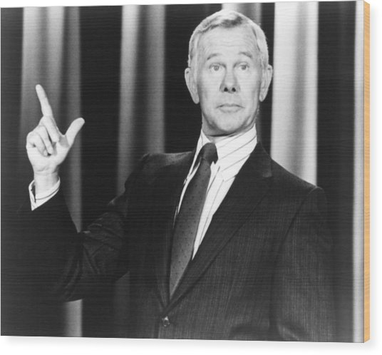 Johnny Carson In The Tonight Show Starring Johnny Carson  Wood Print