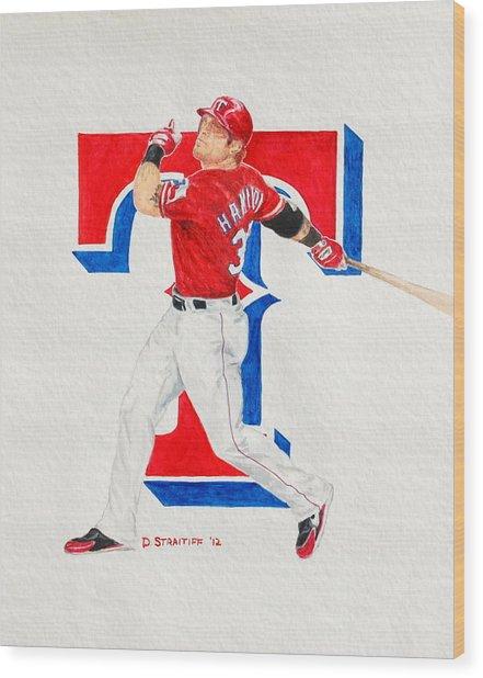Josh Hamilton - Texas Rangers Wood Print