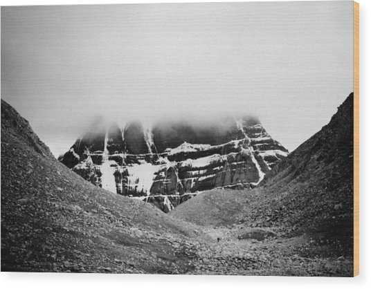 Kailash Mountain North Slope Wood Print