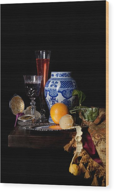 Kalf - Still Life With A Chinese Porcelain Jar  Wood Print