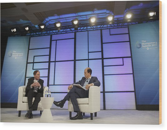 Key Speakers At The 2017 Montgomery Summit Wood Print by Bloomberg