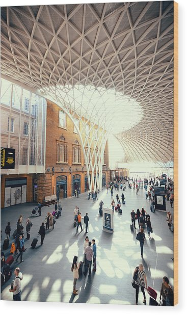 Kings Cross Station London Wood Print