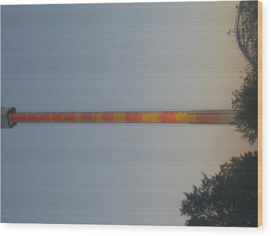 Kings Dominion - Drop Tower - 12122 Wood Print by DC Photographer