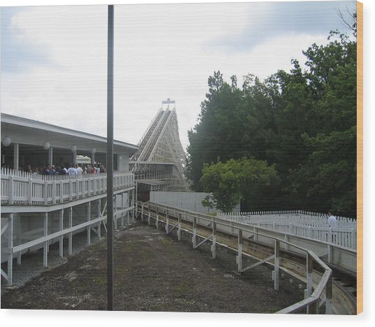Kings Dominion - Rebel Yell - 12121 Wood Print by DC Photographer