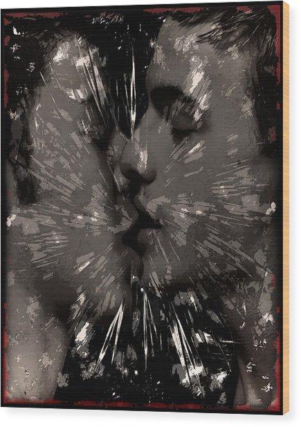 Kiss Wood Print by John Waiblinger