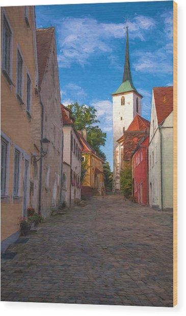 Klostergasse Vilseck Wood Print
