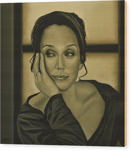 Kristin Scott Thomas Wood Print