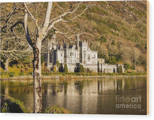Kylemore Abbey In Winter Wood Print