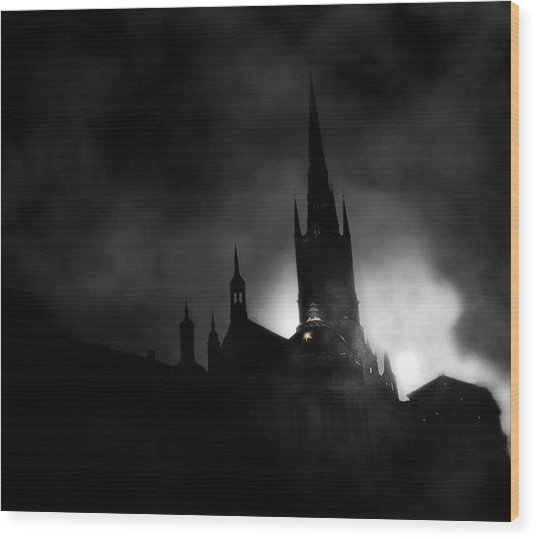 Kyrka Wood Print by David Fox