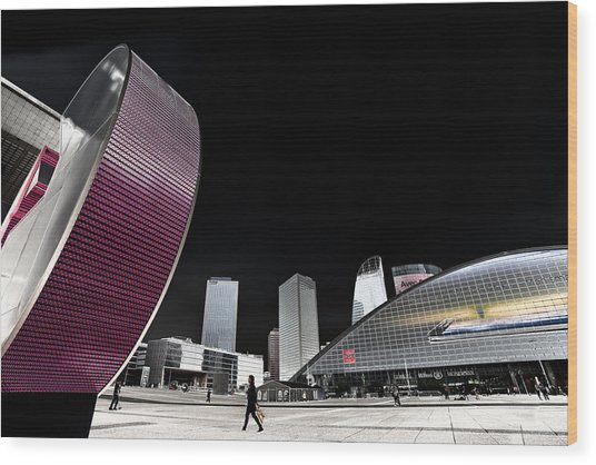 La Defense Paris Wood Print
