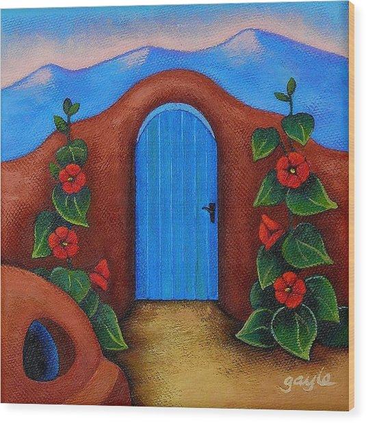 La Puerta Azul Wood Print
