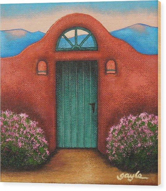 La Puerta Verde Wood Print