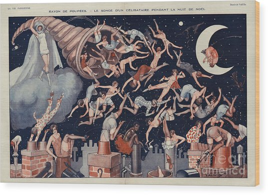 La Vie Parisienne 1927 1920s France Wood Print by The Advertising Archives