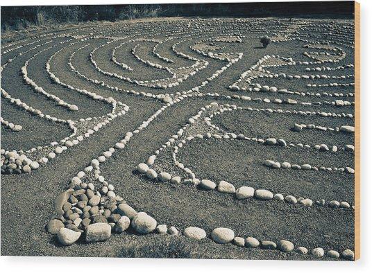 Labyrinth Journey Wood Print