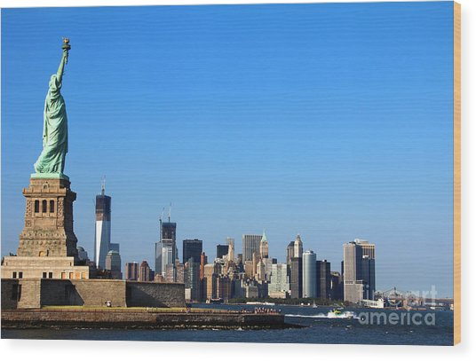 Lady Liberty Watches 1wtc Rise Wood Print
