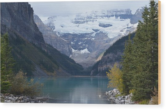 Lake Louise In Fall Wood Print