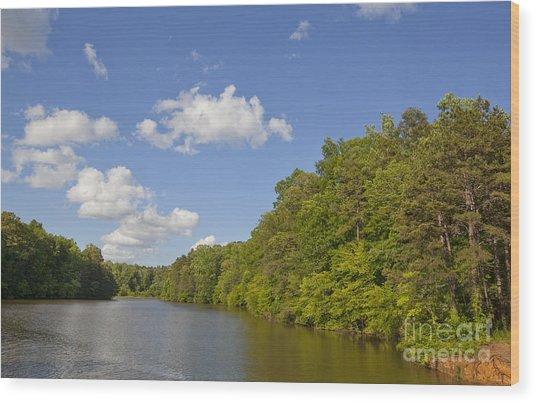 Lake Norman Cove Wood Print by Jonathan Welch