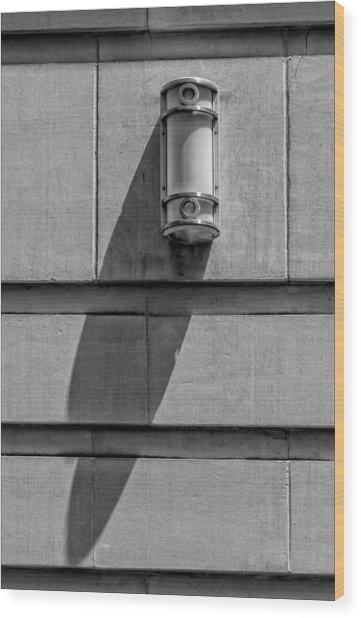 Lamp And Shadow Wood Print by Robert Ullmann