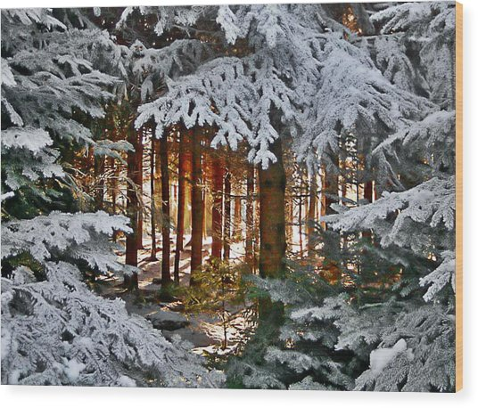 Landscape Art Wood Print