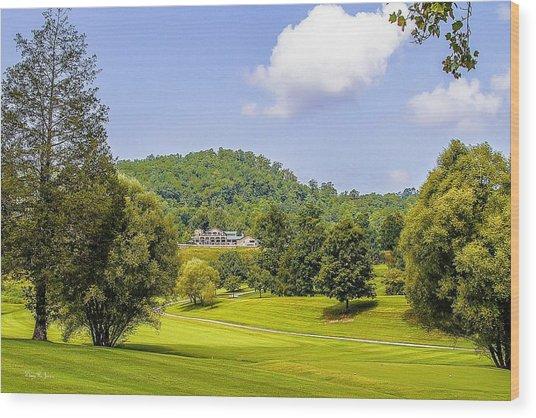 Laurel Valley G C Wood Print by Barry Jones