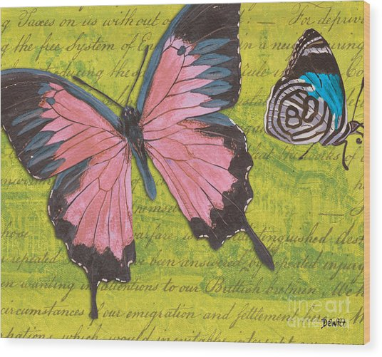 Le Papillon 2 Wood Print
