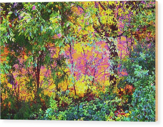 Leafy II Wood Print