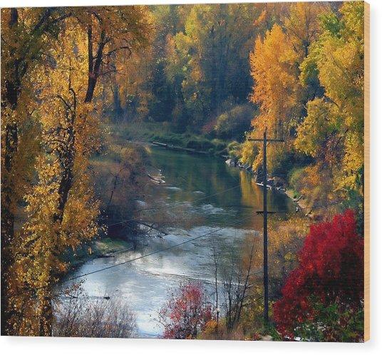 Leavenworth Fall Wood Print