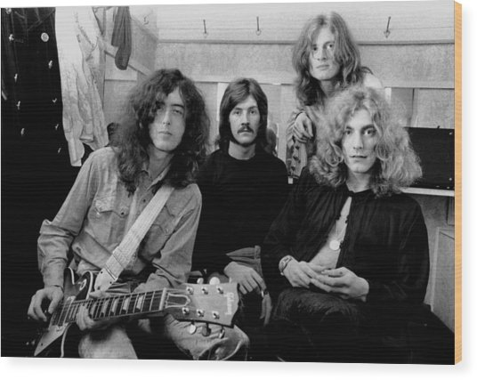 Led Zeppelin 1969 Wood Print