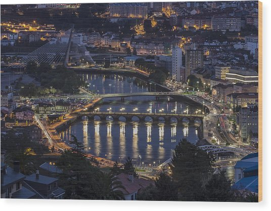 Lerez River Pontevedra Galicia Spain Wood Print