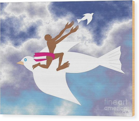 Letting Go 2 Wood Print by Walter Oliver Neal