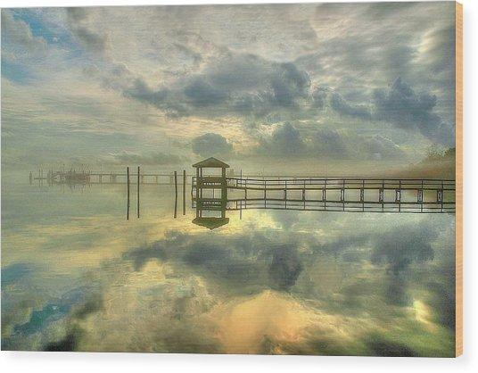 Levitating Dock Wood Print