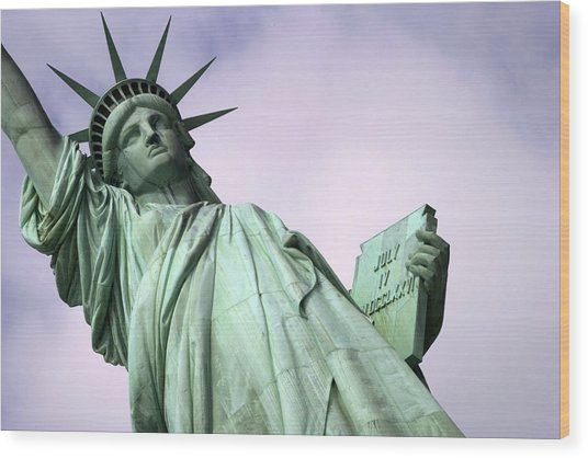 Liberty Lady Wood Print