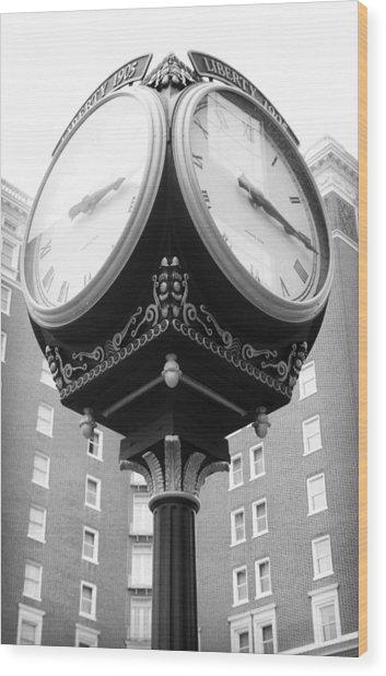 Liberty Mutual Clock Wood Print