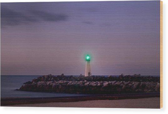 Lighthouse Santa Cruz Wood Print