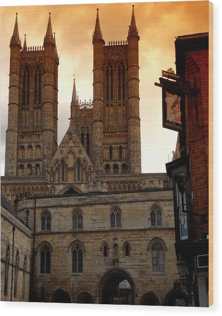 Lincoln Cathedral Wood Print