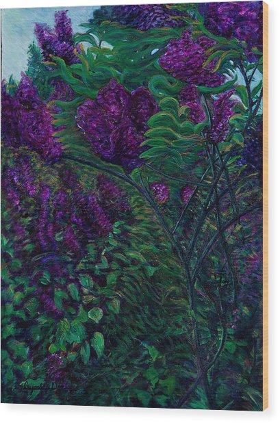 Lois Loves Lilacs Wood Print