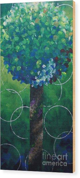 Lollipop Tree Green Wood Print