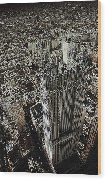 Looking Down On A Skyscraper Wood Print