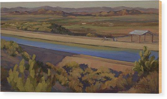 California Aqueduct Wood Print