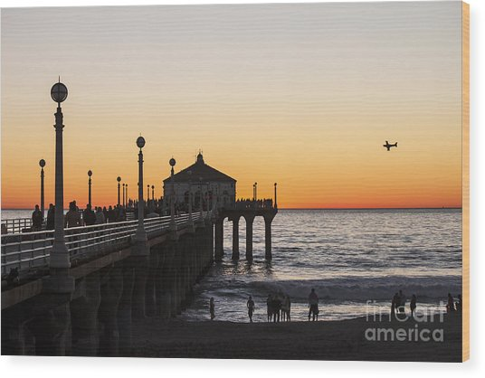 Los Angeles Sunset Wood Print