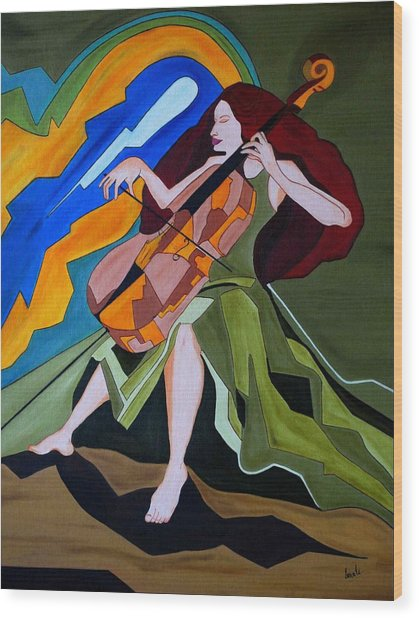 Lost In Music Wood Print