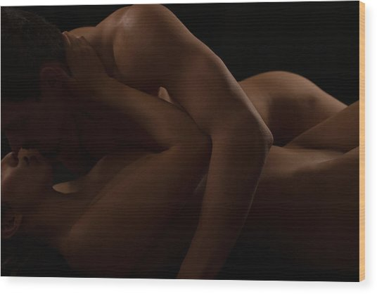 Loving Embrace Wood Print