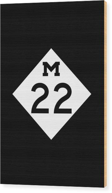 M 22 Wood Print